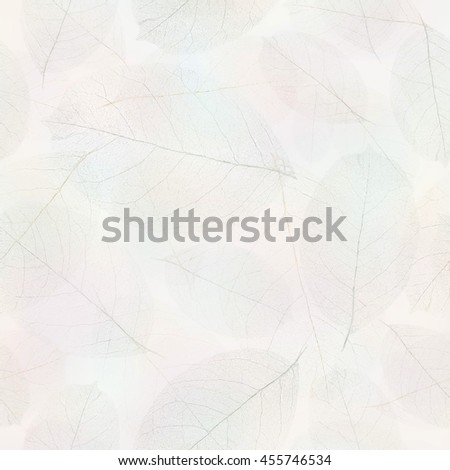 Seamless transparent foliage pattern. - stock photo
