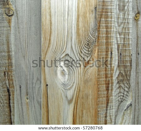 Seamless vertical tiling wood fence texture - stock photo