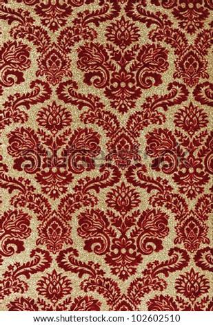 Seamless vintage background for textile design. Wallpaper pattern - stock photo