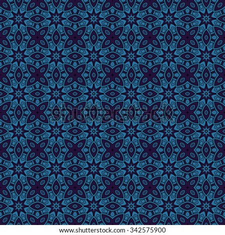 Seamless Vintage Lace Pattern. Hand Drawn Tile Texture, Ethnic Ornament