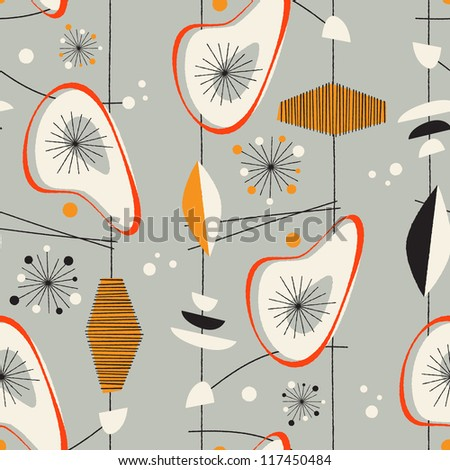 Seamless vintage pattern - JPG Version - stock photo