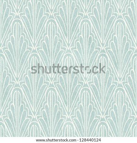 Seamless vintage wallpaper pattern on paper texture. Stencil background. - stock photo