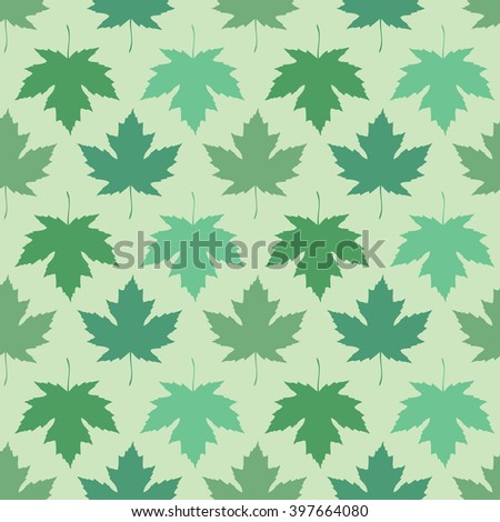 seamless wallpaper. Maple leaves of different colors - stock photo