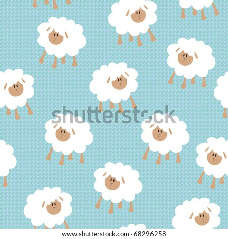 Seamless wallpaper pattern - stock photo