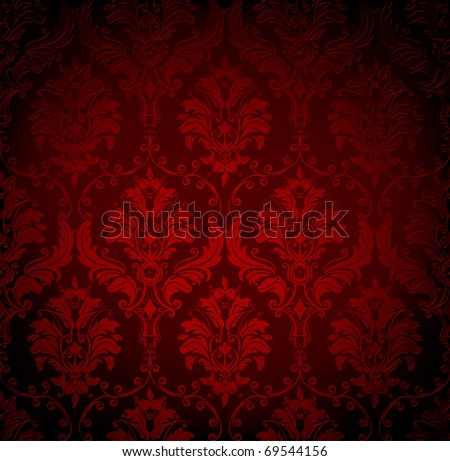 Seamless wallpaper pattern, bitmap copy