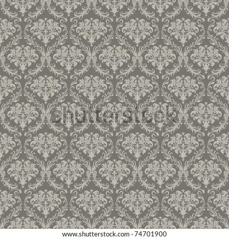 Seamless Wallpaper Pattern, bitmap copy - stock photo