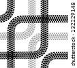 Seamless wallpaper tire tracks pattern illustration  background - stock vector