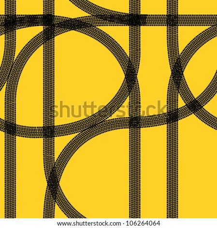 Seamless wallpaper winter tire tracks pattern illustration  background - stock photo