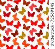 Seamless wallpaper with butterflies. Vector version is in my portfolio - stock photo