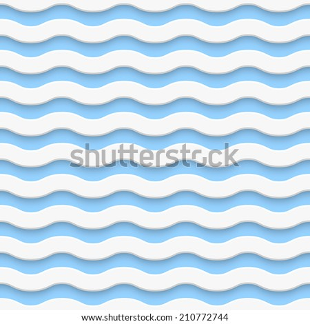 Seamless wave pattern - stock photo