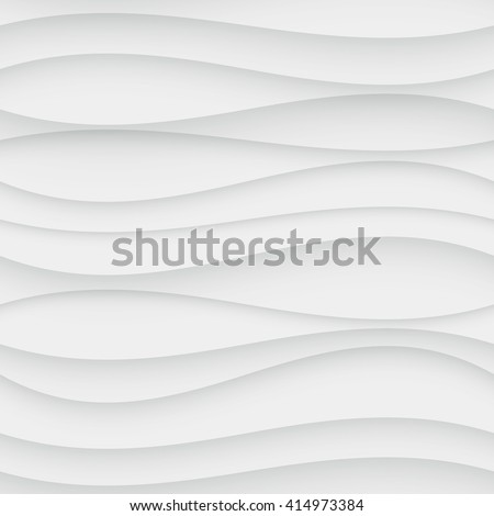 Seamless Wave Pattern. Curved Shapes Background. Regular White wave Texture - stock photo
