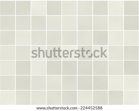 Seamless white bathroom tiles pattern. Wall, floor tiles mosaic.  - stock photo