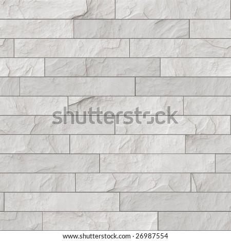 seamless white brick wall - stock photo