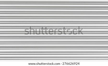Seamless white roller-shutter background texture. - stock photo