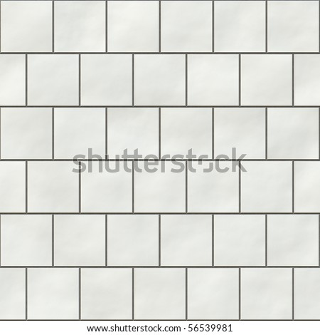 Seamless white square tiles texture in an english style - stock photo