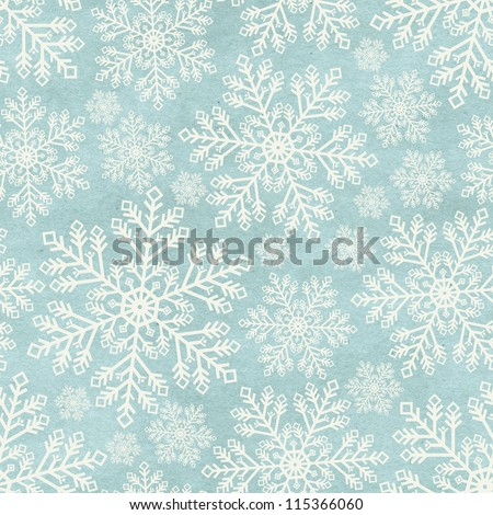 Seamless winter pattern on paper texture. Christmas background - stock photo