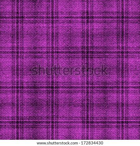 Seamless Woven Plaid Pattern - stock photo