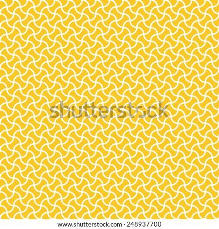 Seamless yellow arc based geometric pattern - stock photo
