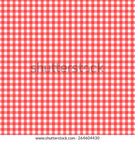 Seamlessly repeating classic rustic traditional gingham checked background pattern in pretty red and white.  - stock photo