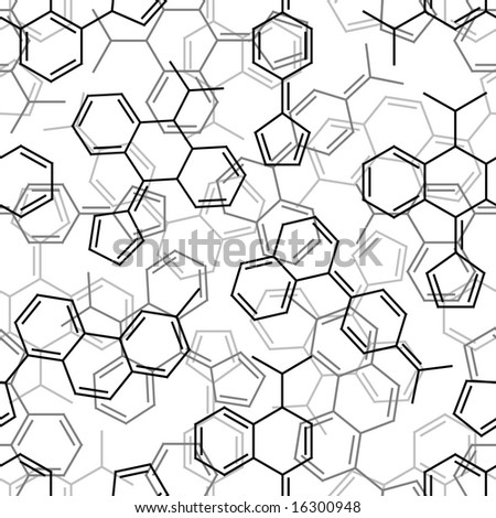 Seamlessly wallpaper chemistry formulas on white. Vector version is in my portfolio