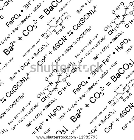 Seamlessly wallpaper chemistry scribbles on white. Vector version - in my portfolio
