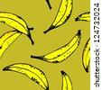 SEAMLLES BANANA PATTERN yellow - stock photo