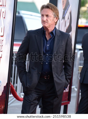 "Sean Penn at the Los Angeles premiere of ""A Million Ways To Die In The West"" held at the Regency Village Theatre in Los Angeles, California, United States on May 15, 2014."