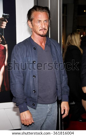 "Sean Penn at the Los Angeles premiere of ""Gangster Squad"" held at the Grauman's Chinese Theatre, Los Angeles, USA on January 7, 2013. - stock photo"