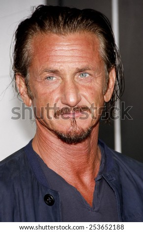 "Sean Penn at the Los Angeles premiere of ""Gangster Squad"" held at the Grauman's Chinese Theatre in Los Angeles, United States, 07-01-13. - stock photo"
