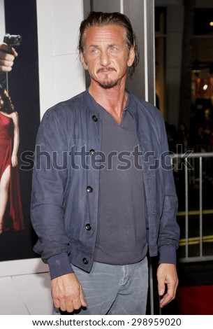 Sean Penn at the Los Angeles premiere of 'Gangster Squad' held at the Grauman's Chinese Theatre in Hollywood on January 7, 2013.   - stock photo