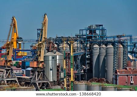 Seaport storage in Odessa. Ukraine. - stock photo