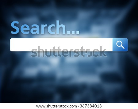 Search bar image on blue background