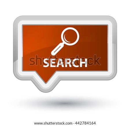 Search brown banner button - stock photo