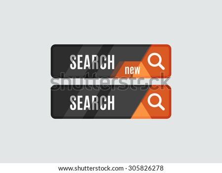 Search button, futuristic hi-tech UI design. Website, mobile applications icon, online design, business, gui or ui - stock photo
