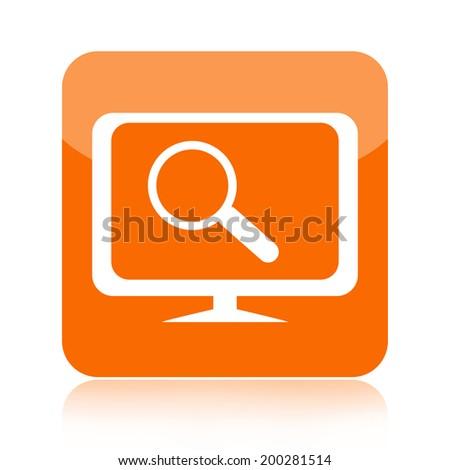 Search computer icon - stock photo