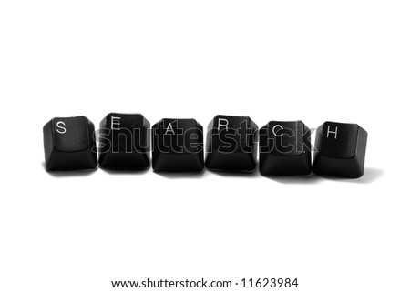 search - computer keys isolated on white background