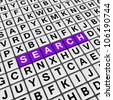 search (cubes crossword series) - stock photo
