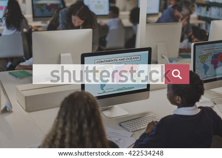 Search Discover Connection Exploration Inspect Concept - stock photo