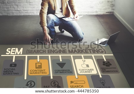 Search Engine Marketing Online Digital Concept - stock photo