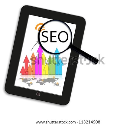 search engine optimization business concept. - stock photo