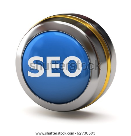 Search Engine Optimization button - stock photo