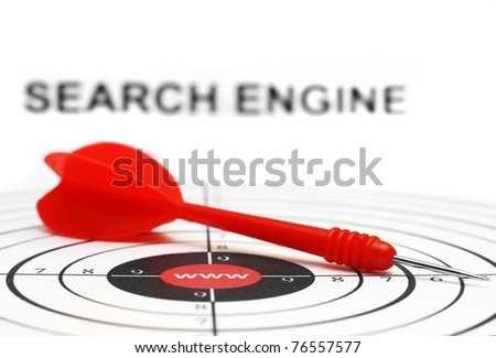 Search engine target - stock photo