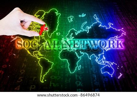Search engines hand pick add plus people sign - stock photo
