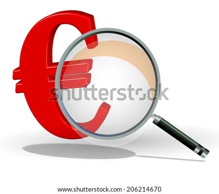 search euro - stock photo