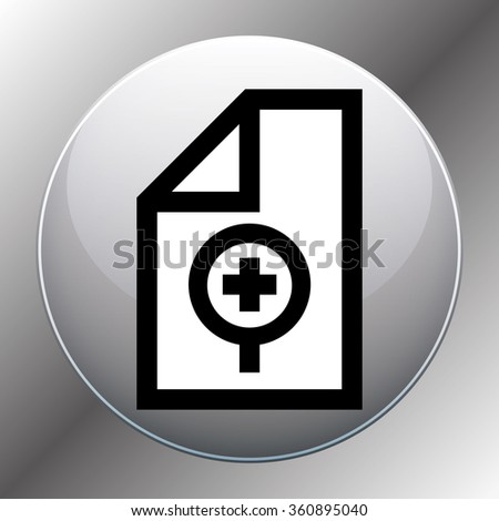 search file or folder - stock photo