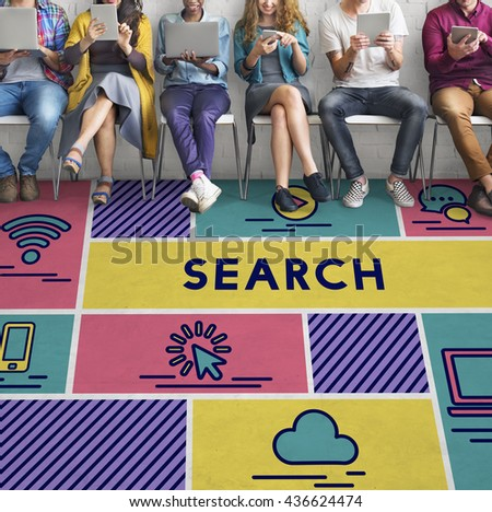 Search Find Data Exploration Browsing Concept - stock photo