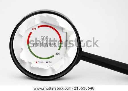 Search for employee - stock photo