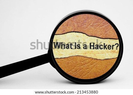 Search for hacker - stock photo