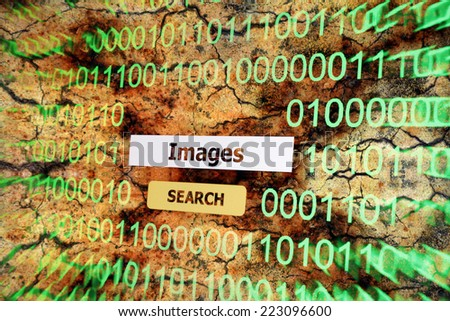 Search for images - stock photo