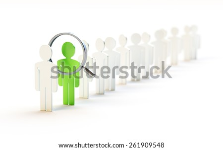 Search for Professionals Concept Illustration - stock photo